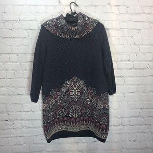Moth beautifully patterned tunic Sweater Sz M